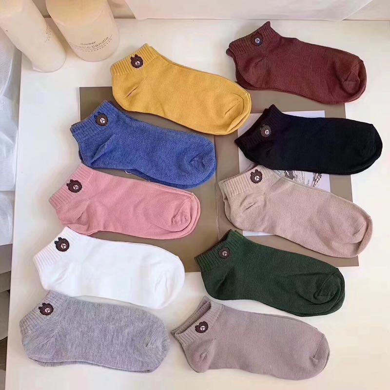 intfeday 10色小熊袜